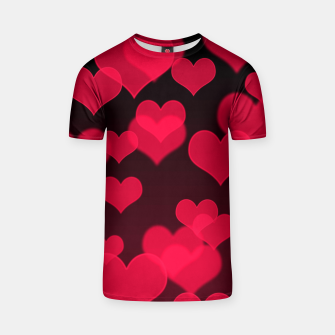 Thumbnail image of Raspberry Red Hearts Design T-shirt, Live Heroes