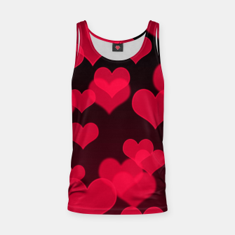 Thumbnail image of Raspberry Red Hearts Design Tank Top, Live Heroes