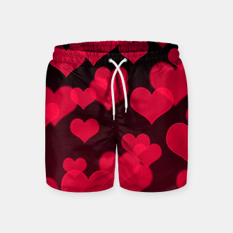 Thumbnail image of Raspberry Red Hearts Design Swim Shorts, Live Heroes