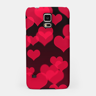 Thumbnail image of Raspberry Red Hearts Design Samsung Case, Live Heroes