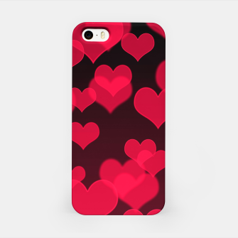 Thumbnail image of Raspberry Red Hearts Design iPhone Case, Live Heroes