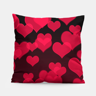 Thumbnail image of Raspberry Red Hearts Design Pillow, Live Heroes