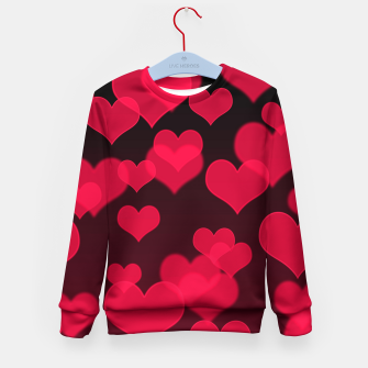 Thumbnail image of Raspberry Red Hearts Design Kid's sweater, Live Heroes