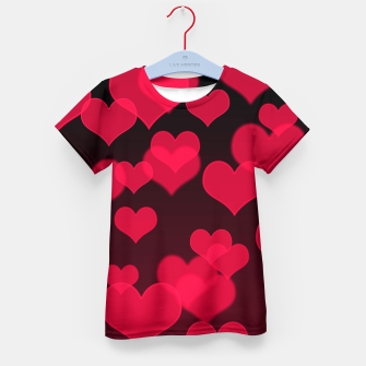 Thumbnail image of Raspberry Red Hearts Design Kid's t-shirt, Live Heroes