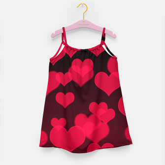 Thumbnail image of Raspberry Red Hearts Design Girl's dress, Live Heroes