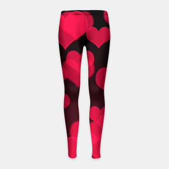 Thumbnail image of Raspberry Red Hearts Design Girl's leggings, Live Heroes