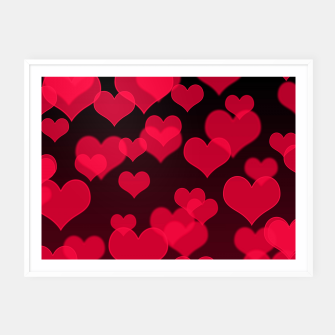 Thumbnail image of Raspberry Red Hearts Design Framed poster, Live Heroes
