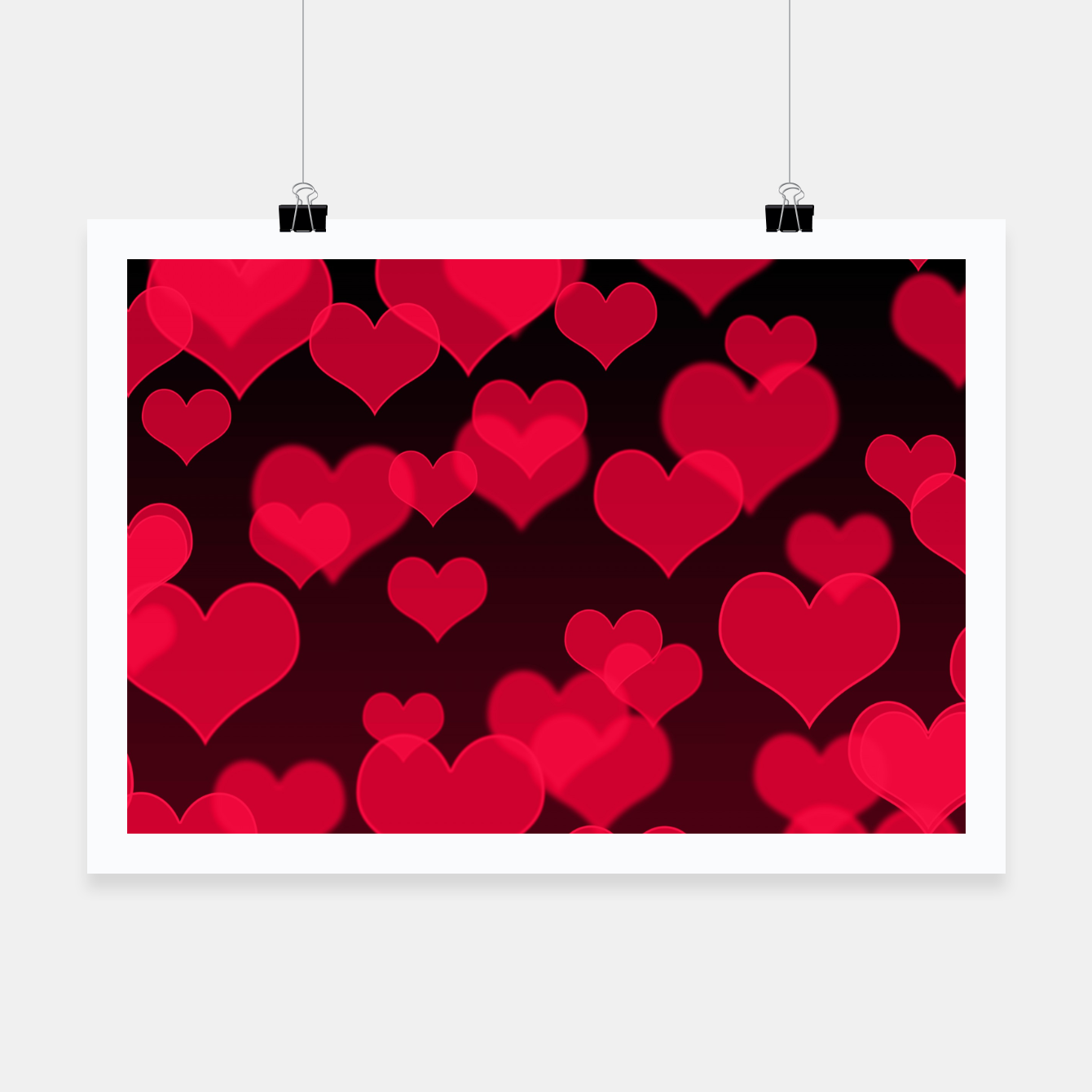 Image of Raspberry Red Hearts Design Poster - Live Heroes