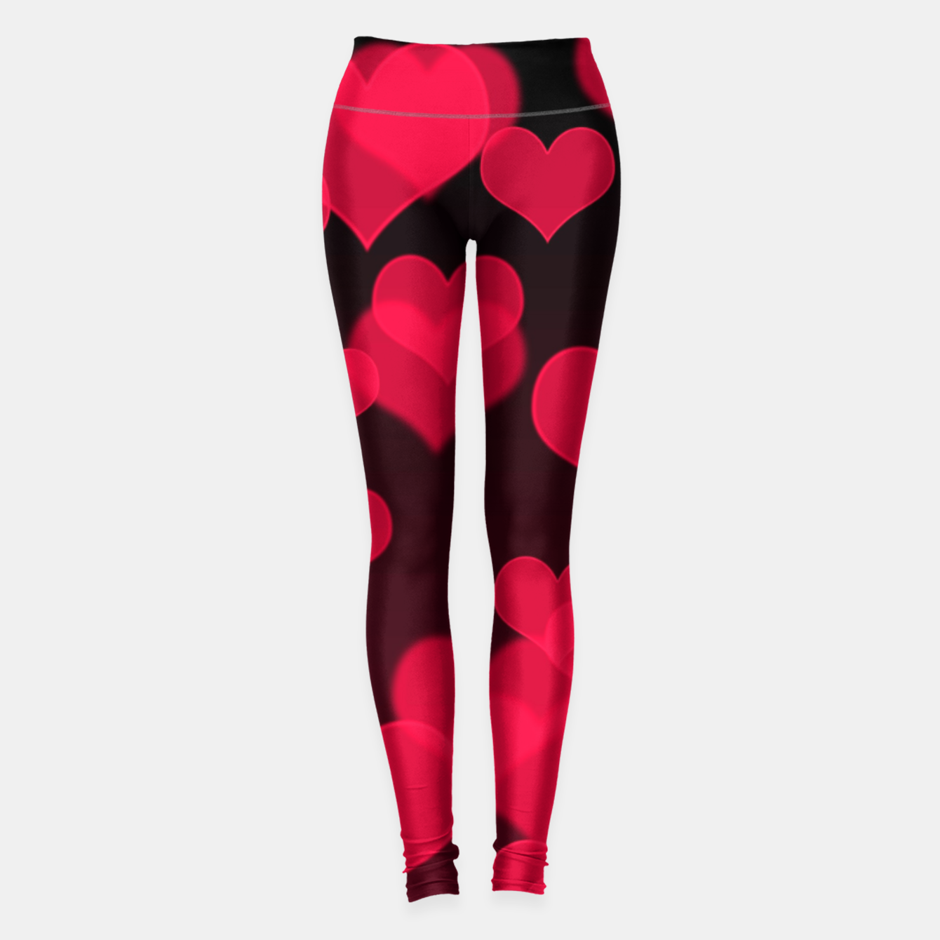 Image of Raspberry Red Hearts Design Leggings - Live Heroes