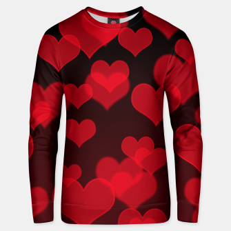 Red Hearts Design Unisex sweater thumbnail image