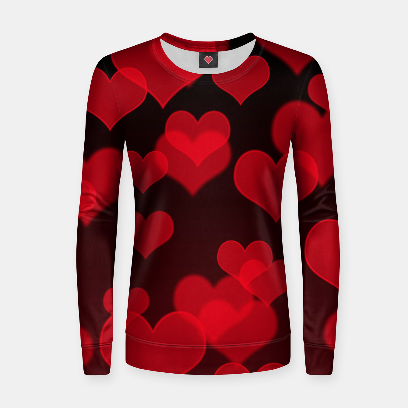 Image of Red Hearts Design Women sweater - Live Heroes