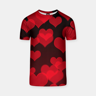 Red Hearts Design T-shirt thumbnail image