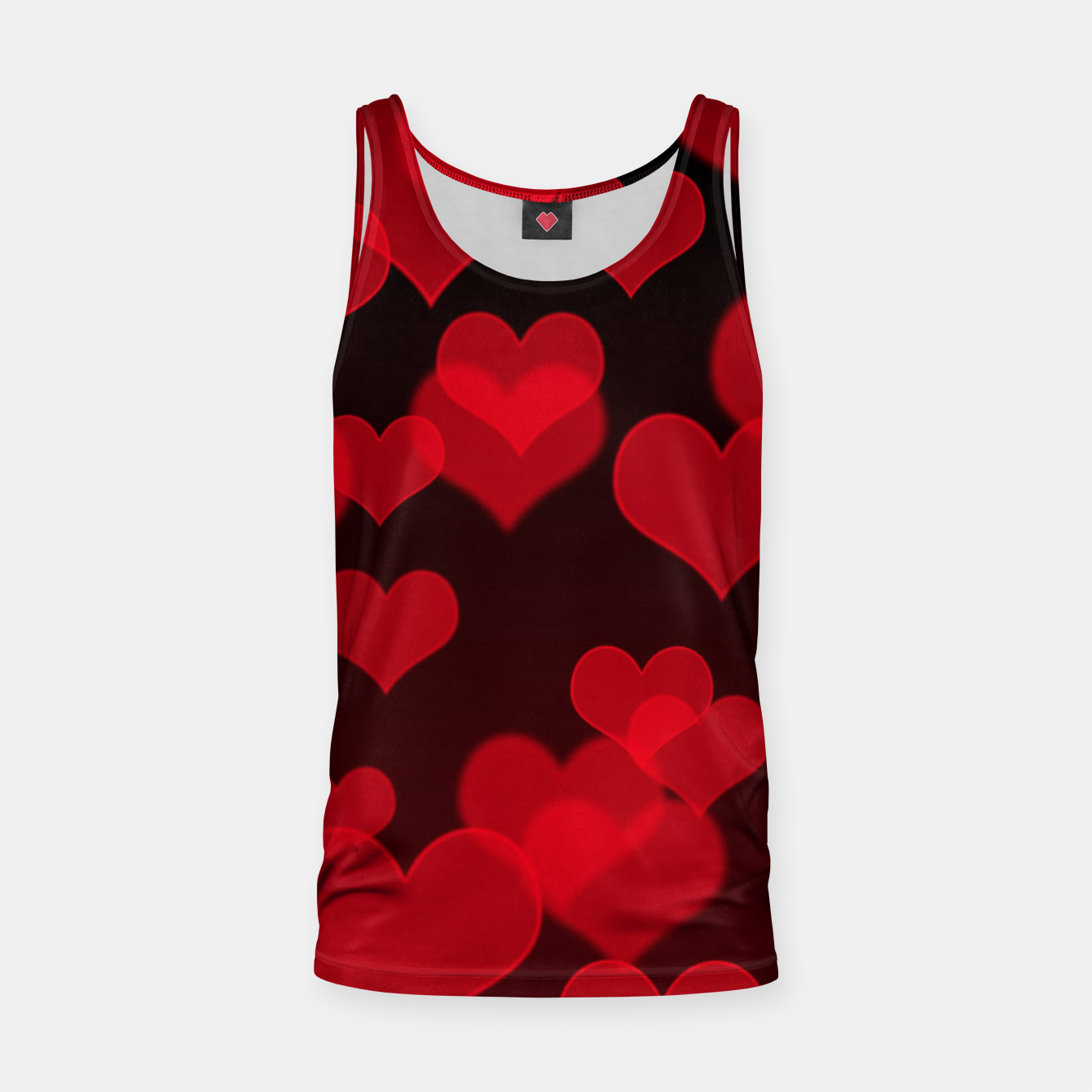 Image of Red Hearts Design Tank Top - Live Heroes