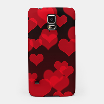Thumbnail image of Red Hearts Design Samsung Case, Live Heroes
