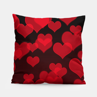 Red Hearts Design Pillow thumbnail image