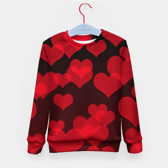 Thumbnail image of Red Hearts Design Kid's sweater, Live Heroes