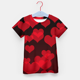 Thumbnail image of Red Hearts Design Kid's t-shirt, Live Heroes