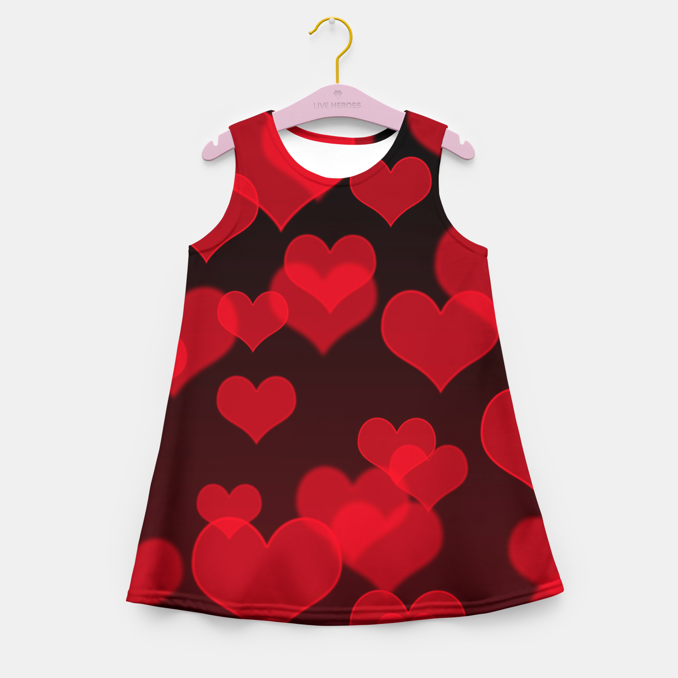 Image of Red Hearts Design Girl's summer dress - Live Heroes
