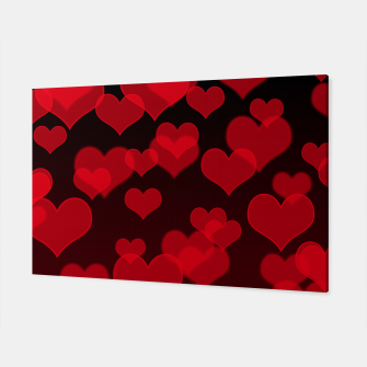Red Hearts Design Canvas thumbnail image