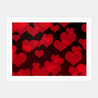Thumbnail image of Red Hearts Design Framed poster, Live Heroes