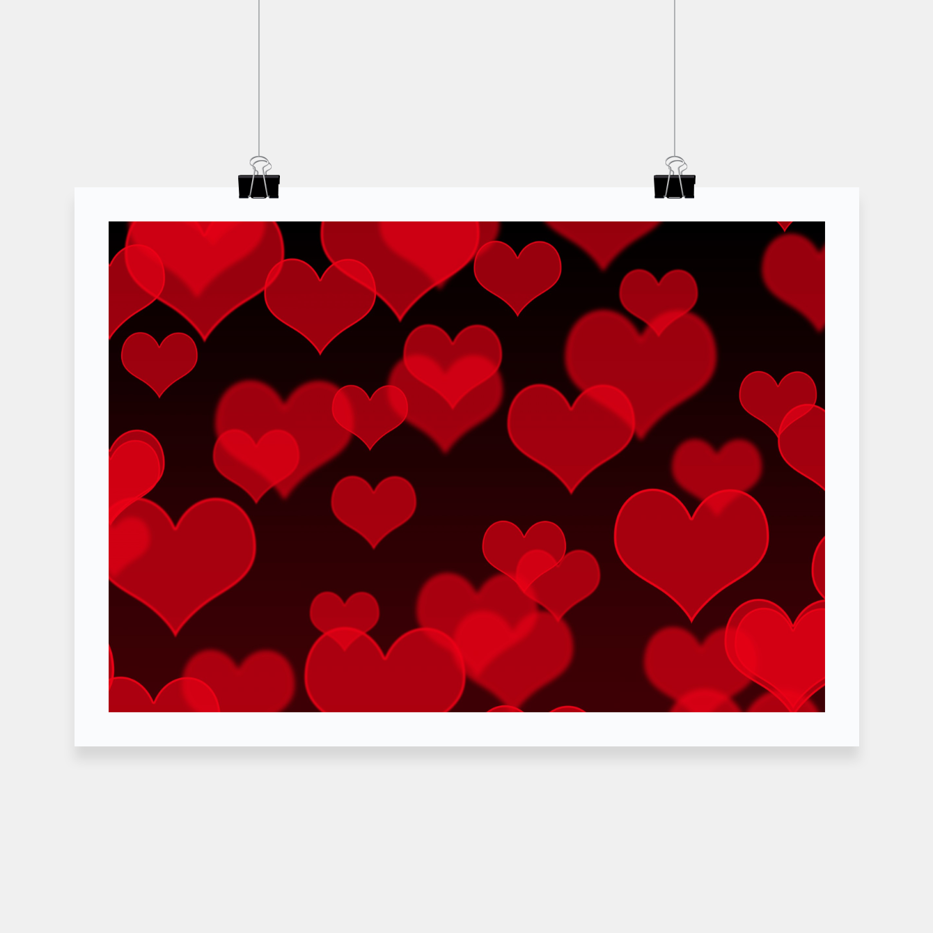 Image of Red Hearts Design Poster - Live Heroes