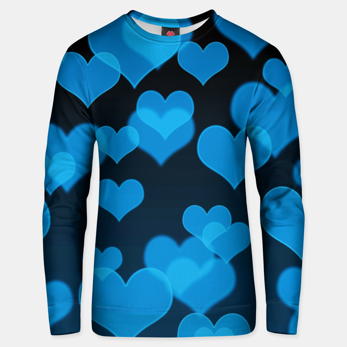 Image of Sky Blue Hearts Design Unisex sweater - Live Heroes