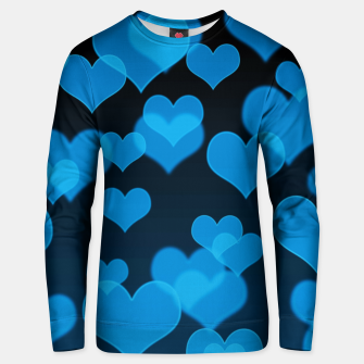 Sky Blue Hearts Design Unisex sweater thumbnail image