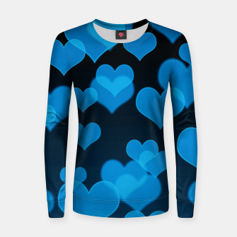 Thumbnail image of Sky Blue Hearts Design Women sweater, Live Heroes