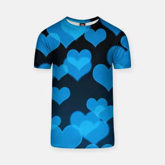 Sky Blue Hearts Design T-shirt thumbnail image