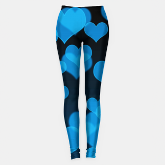 Sky Blue Hearts Design Leggings thumbnail image