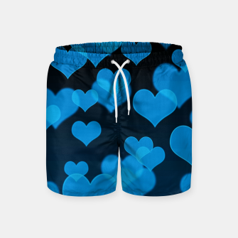 Thumbnail image of Sky Blue Hearts Design Swim Shorts, Live Heroes