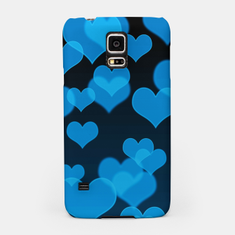 Thumbnail image of Sky Blue Hearts Design Samsung Case, Live Heroes