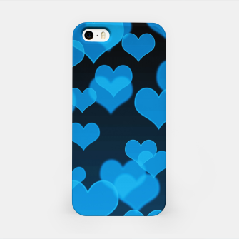 Sky Blue Hearts Design iPhone Case thumbnail image