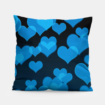 Sky Blue Hearts Design Pillow thumbnail image