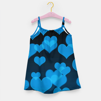 Sky Blue Hearts Design Girl's dress thumbnail image
