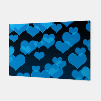 Sky Blue Hearts Design Canvas thumbnail image