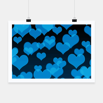 Thumbnail image of Sky Blue Hearts Design Poster, Live Heroes