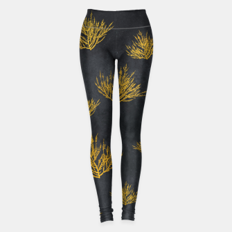 Miniatur Gold floral Legginsy, Live Heroes