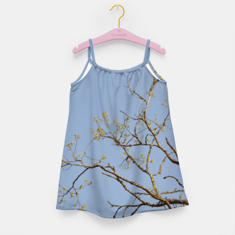 Miniatur Spring branches Girl's dress, Live Heroes