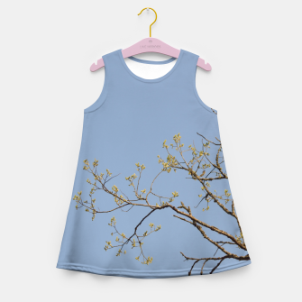 Miniatur Spring branches Girl's summer dress, Live Heroes