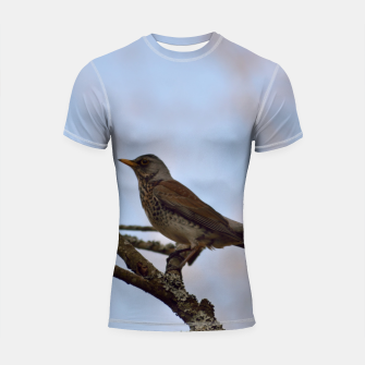 Miniature de image de Fieldfare on a branch Shortsleeve rashguard, Live Heroes