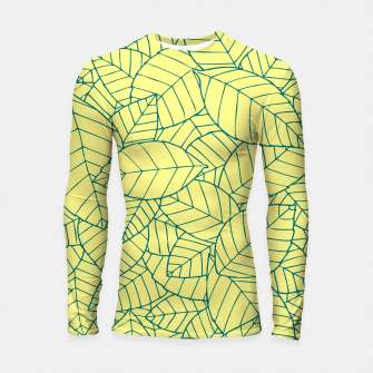Thumbnail image of Blue Leaves Pattern Longsleeve rashguard , Live Heroes