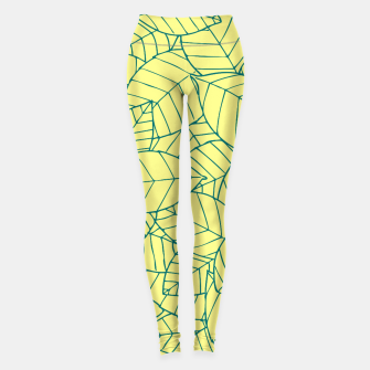 Thumbnail image of Blue Leaves Pattern Leggings, Live Heroes