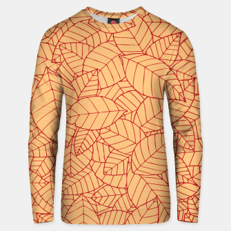 Thumbnail image of Red Leaves Pattern Unisex sweater, Live Heroes