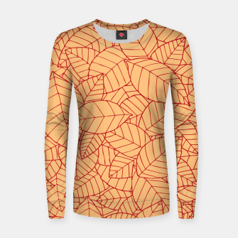Thumbnail image of Red Leaves Pattern Women sweater, Live Heroes