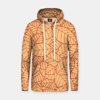 Thumbnail image of Red Leaves Pattern Hoodie, Live Heroes