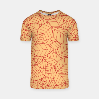 Thumbnail image of Red Leaves Pattern T-shirt, Live Heroes