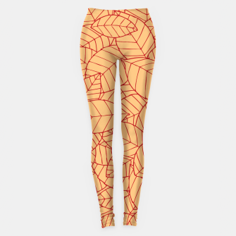 Thumbnail image of Red Leaves Pattern Leggings, Live Heroes