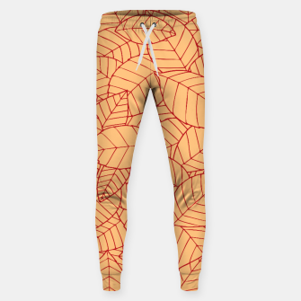 Thumbnail image of Red Leaves Pattern Sweatpants, Live Heroes