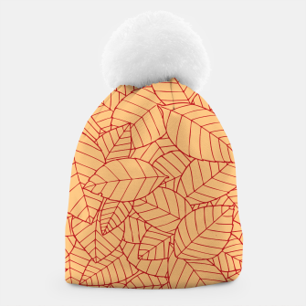 Thumbnail image of Red Leaves Pattern Beanie, Live Heroes